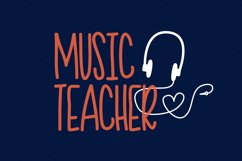 Teacher Doodles - A Dingbat Back To School Font  Product Image 3