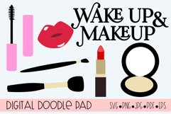 Wake Up & Makeup SVG Cut Files for Cricut & Silhouette Product Image 1