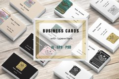 Business Cards with typewriters Product Image 1