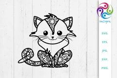 Zen Tangle Cat Svg File Product Image 1