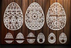 Easter Egg svg Ornate Eggs Happy Easter Mandala Zentangle Product Image 1