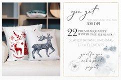 Nordic Christmas Clip Art Dala Horse Swedish Design Product Image 2