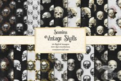 Vintage Skulls Digital Paper Product Image 1