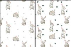 Rabbits-a pattern on a transparent background Product Image 1