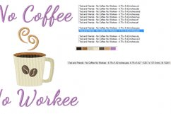 No COFFEE No WORKEE in 2 sizes - Instant Download Product Image 3