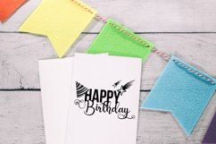 Happy Birthday Typography, Hat and Stars svg, png, dxf, jpg Product Image 2