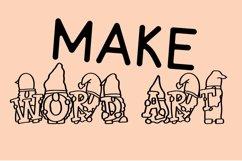 Web Font Gnome Friends Monogram Font - A-Z Letters Product Image 2