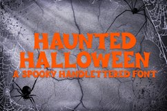 Haunted Halloween - A Spooky Hand-Lettered Font Product Image 1