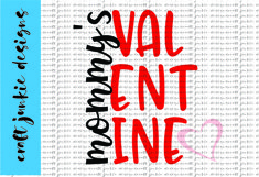 Mommy's Valentine SVG Product Image 1