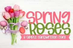 Web Font Spring Roses - A Simple Handwritten Font Product Image 1