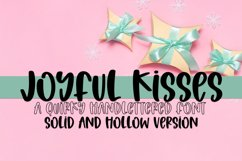 Joyful Kisses - A Quirky Hand-Lettered Font Product Image 1