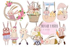 bunnie Easter clip art Product Image 1