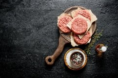 20 Photos Raw burgers. Cooking of beef Burger patties. Product Image 4