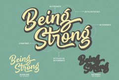 Being Strong Layered Font Product Image 2