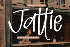 Web Font Jattie - A Handdrawn Font Product Image 1