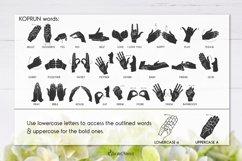 Koprun - American Sign Language Font Product Image 6