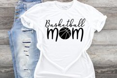 Basketball mom fan svg cut file, mother Sports parent Product Image 1