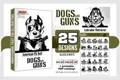 Peeking Dogs Guns SVG, BUNDLE 25 vectors, Gangster, Bad Dog, Product Image 2