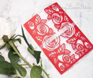 Roses wedding invitation template, Svg files for cricut Product Image 5