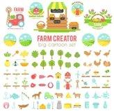 Farm creator. Big set of vector farming elements Product Image 1