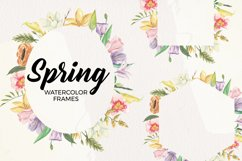 Spring Frames Floral Watercolors Pastel Cute Border Foliage Product Image 1