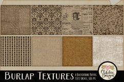 Burlap Background Textures - Rustic Burlap Backgrounds Product Image 5
