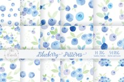 Watercolor Painting Blueberry Product Image 1