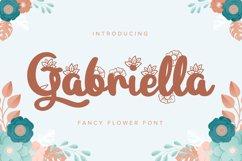 Gabriella | Fancy Flower Font Product Image 1