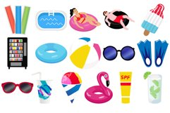 Pool Party Clipart Product Image 2