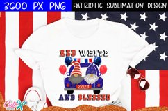 Red white and blessed|Patriotic sublimation design Product Image 1