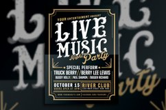 Live Music Typography Poster Flyer Product Image 3