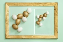 Easter eggs white and gold colored Product Image 1