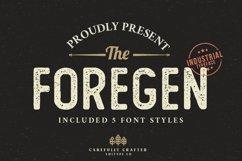 The Foregen - Vintage Sans Serif Product Image 1