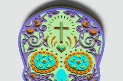 Multilayer Sugar Skull Mandala - S1, for cutting machines Product Image 4