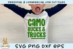 Camo Bucks & Trucks Kids Grunge Distress SVG Product Image 2