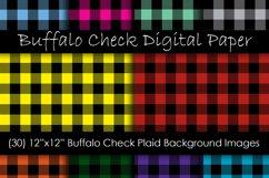Buffalo Plaid Digital Paper - Buffalo Check Plaid Patterns Product Image 1