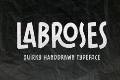 Labroses Quirky Typeface Product Image 1
