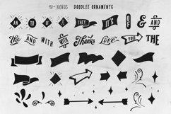 Beverley 4 Font Family Extra Bonus 40 doodle ornaments Product Image 4