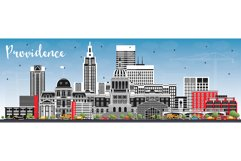 Providence Rhode Island City Skyline Product Image 1