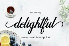delightful script Product Image 1
