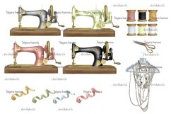 Customizable Seamstress Clipart, Craft Clipart. Product Image 4
