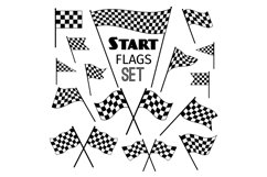 Checkered flag icons Product Image 1