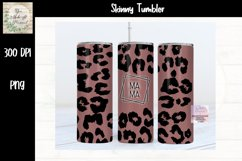 Sublimation Matte Leopard Tumbler Design with MAMA Product Image 1