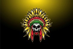 Indian skull logo design template Product Image 1