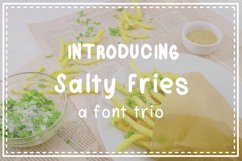 Salty Fries Font Trio Product Image 1