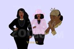 Church ladies Bundle, African American, Black women png Product Image 2