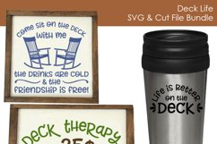 Deck Life - Outdoor Living SVG and Cut Files for Crafters Product Image 3