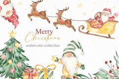 Merry Christmas watercolor collection Product Image 1