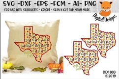 Texas Autumn Fall Leaves Pattern SVG Product Image 1