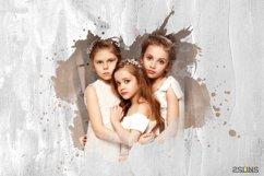 20 Watercolor portrait paint masks, photo frame, Photoshop Product Image 3